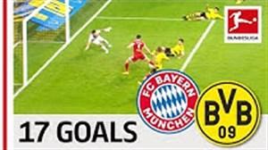17 گل برتر تقابل بایرن مونیخ - دورتموند در بوندسلیگا