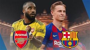 خلاصه بازی بارسلونا 2 - آرسنال 1 (جام خوان گمپر)