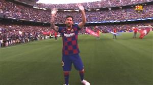 معرفیبازیکنان فصل 20-2019 بارسلونا در نیوکمپ