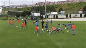 تمرینات بازیکنان ترابزون با حضور حسینی