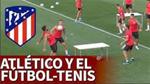 تنیس فوتبال در تمرینات اتلتیکومادرید