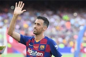 گل اول بارسلونا به ناپولی (بوسکتس)