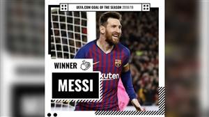 گل لیونل مسی به لیورپول به عنوان بهترین گل فصل یوفا انتخاب شد