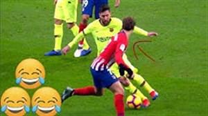 حرکات فریب دهنده مسی در زمین فوتبال