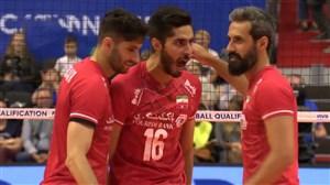 رالی های تماشایی دیدار والیبال ایران - کوبا