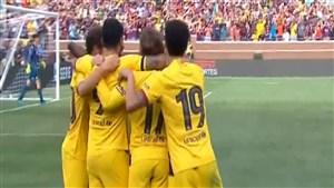گل اول بارسلونا به ناپولی توسط سوارز