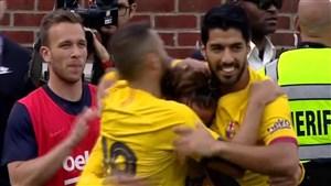 گل دوم بارسلونا به ناپولی توسط گریزمان