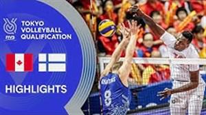 خلاصه والیبال کانادا 3 - فنلاند 0 (انتخابی المپیک)