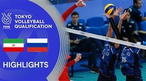 خلاصه والیبال روسیه 3 - ایران 0 (انتخابی المپیک)
