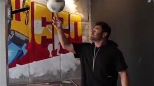 لحظه عصبانی شدن علی کریمی حین والیبال بازی کردن با رضا گلزار