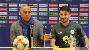 صحبت های منصوریان و حدادی فر قبل از بازی با الاتحاد