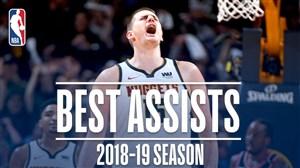 پاس گل های نیکولا یوویچ در فصل 19-2018 بسکتبال NBA