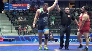 پیروزی امیرحسین زارع مقابل حریف ارمنستانی (125 کیلو)