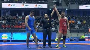 پیروزی مقتدرانه زارع برابر حریف روس در وزن 125 کیلوگرم