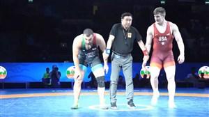 کسب مدال نقره امیرحسین زارع در وزن 125 کیلو