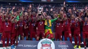 مراسم اهدای سوپرکاپ اروپا به تیم لیورپول