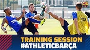 تمرینات آماده سازی بارسلونا برای آغاز فصل جدید در لالیگا