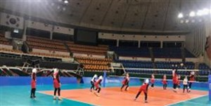 پیروزی تیم ملی والیبال بانوان در یک بازی دوستانه