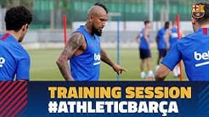 آخرین تمرین بارسلونا پیش از بازی با بیلبائو