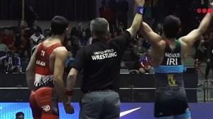 پیروزی محمد ناقوسی در مقابل حریف ترک در وزن 77 کیلوگرم