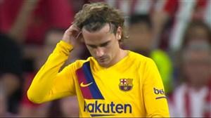 عملکرد گریزمان در اولین بازی لالیگایی برای بارسلونا