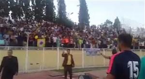 شادی بازیکنان قشقایی بعد از برد پرگل مقابل مس