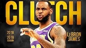 برترین شوتهای کلاچ لبران جیمز در NBA فصل 19-2018