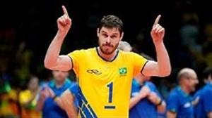 مهارتهای برونو رزنده پاسور اول تیم والیبال برزیل