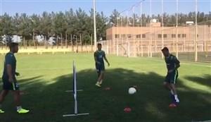تنیس فوتبال بازیکنان سپاهان در تمرینات
