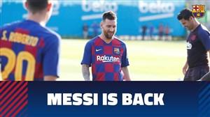 بازگشت مسی به تمرینات بارسلونا