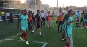 تمرین پیش از بازی تراکتور و نفت مسجدسلیمان