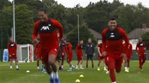 تمرین لیورپول برای رویارویی با آرسنال در لیگ جزیره