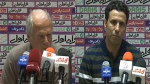 کنفرانس خبری پس از بازی تراکتور - نفت مسجد سلیمان