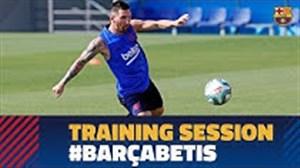 تمرین بارسلونا برای رویارویی با رئال بتیس