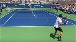 تمرینات آماده سازی راجر فدرر برای US Open 2019
