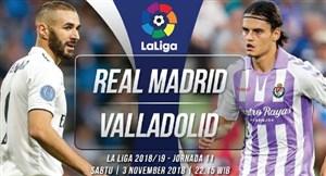 خلاصه بازی رئال مادرید 1 - وایادولید 1