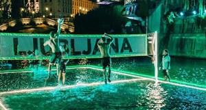 اولین تصویر از مسابقات والیبال در آب در اسلوونی