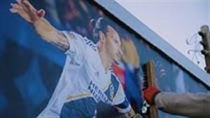 عکسهای زلاتان بر روی دیوارهای لس آنجلس