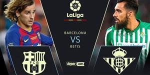خلاصه بازی بارسلونا 5 - رئال بتیس 2 (دبل گریژمان)