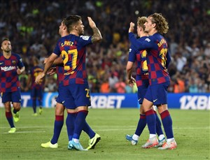 بارسلونا 5-2 بتیس: غرش آبی و اناری های جوان