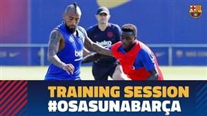 تمرین امروز تیم بارسلونا (06-06-98)