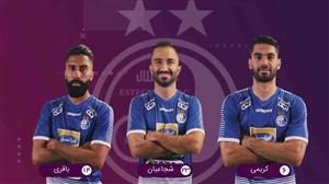 شماتیک ترکیب دو تیم استقلال تهران - فولاد