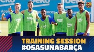 تمرینات بارسلونا برای رویارویی با اوساسونا