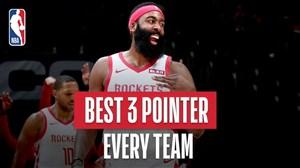 برترین 3 امتیازی های هر تیم لیگ حرفه ای بسکتبال NBA