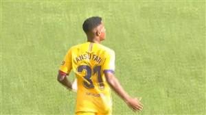گل اول بارسلونا به اوساسونا (آنسو فتی)