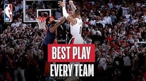 حرکتهای برتر هر تیم در بسکتبال NBA در فصل 19-2018