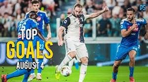 گلهای برتر هفته چهارم ماه آگوست فوتبال اروپا