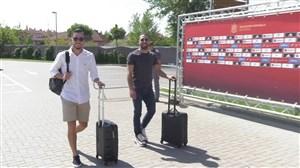 ورود بازیکنان اسپانیا به کمپ تمرینی
