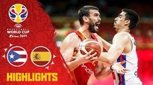 خلاصه بسکتبال پورتوریکو - اسپانیا (جامجهانی 2019)