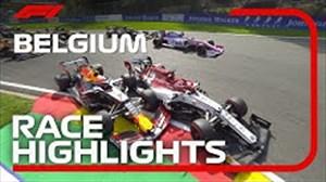 گزیده مسابقه نهایی فرمول یک بلژیک 2019